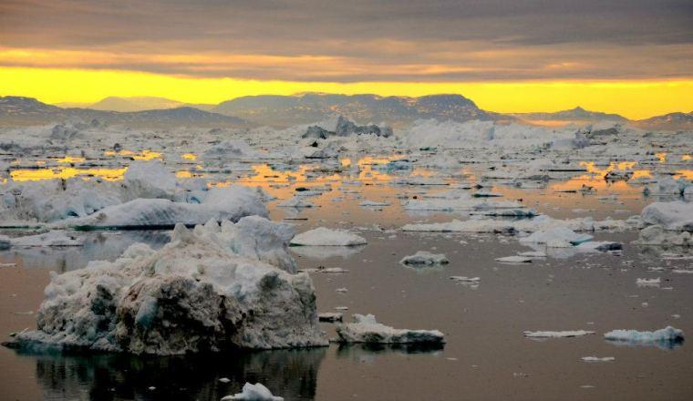 Icebergs float in Illulisaat