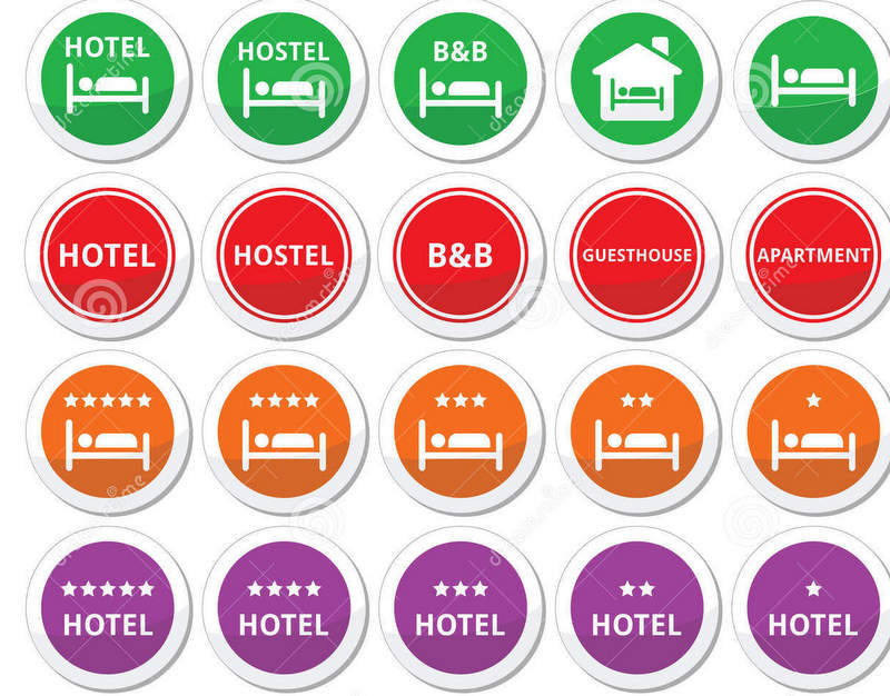 hotel-hostel-b-b-stars-round-buttons-set-travel-icons-man-sleeping-bed-black-signs-isolated-white-51024072