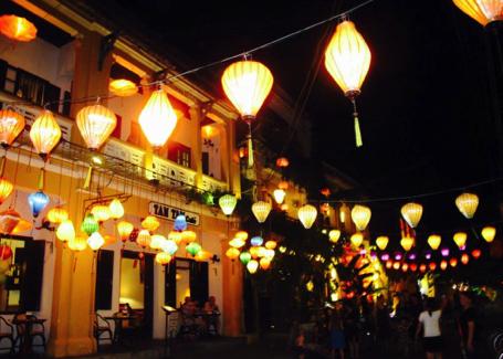 Brightly lit streets