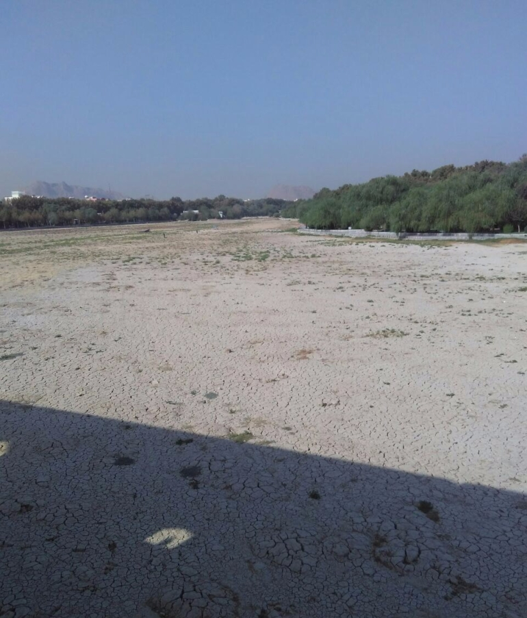 Dry river bed in Isfahan
