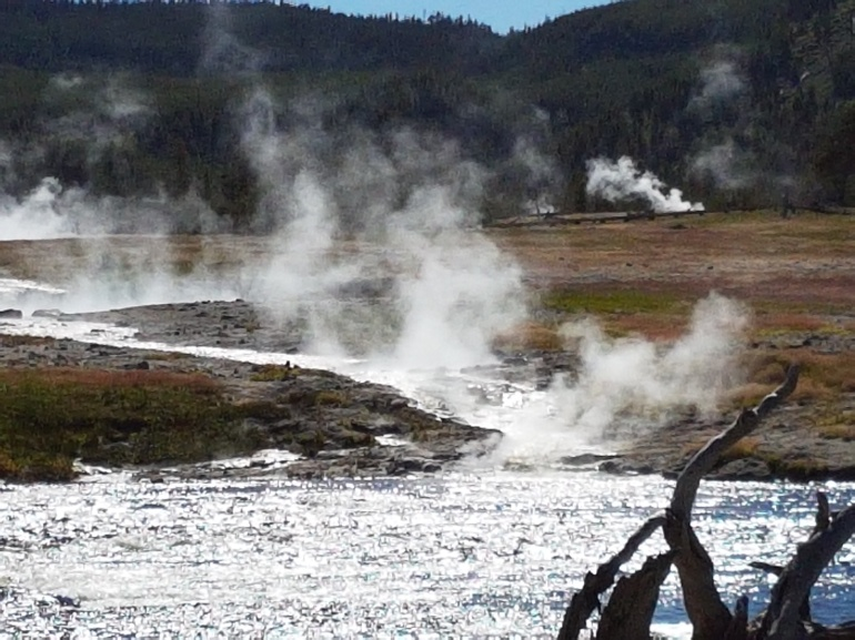 There are a number of hot-springs and geysers in the area