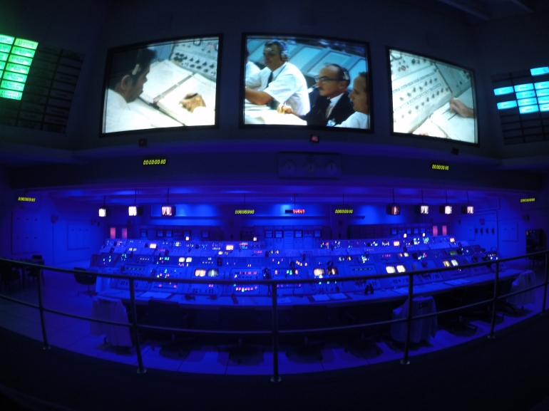 The control room from where the Saturn V was launched